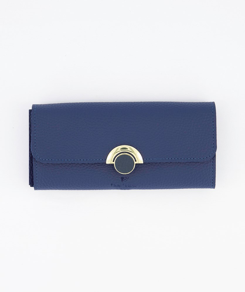 Women's Synthetic Leather Wallet, Blue