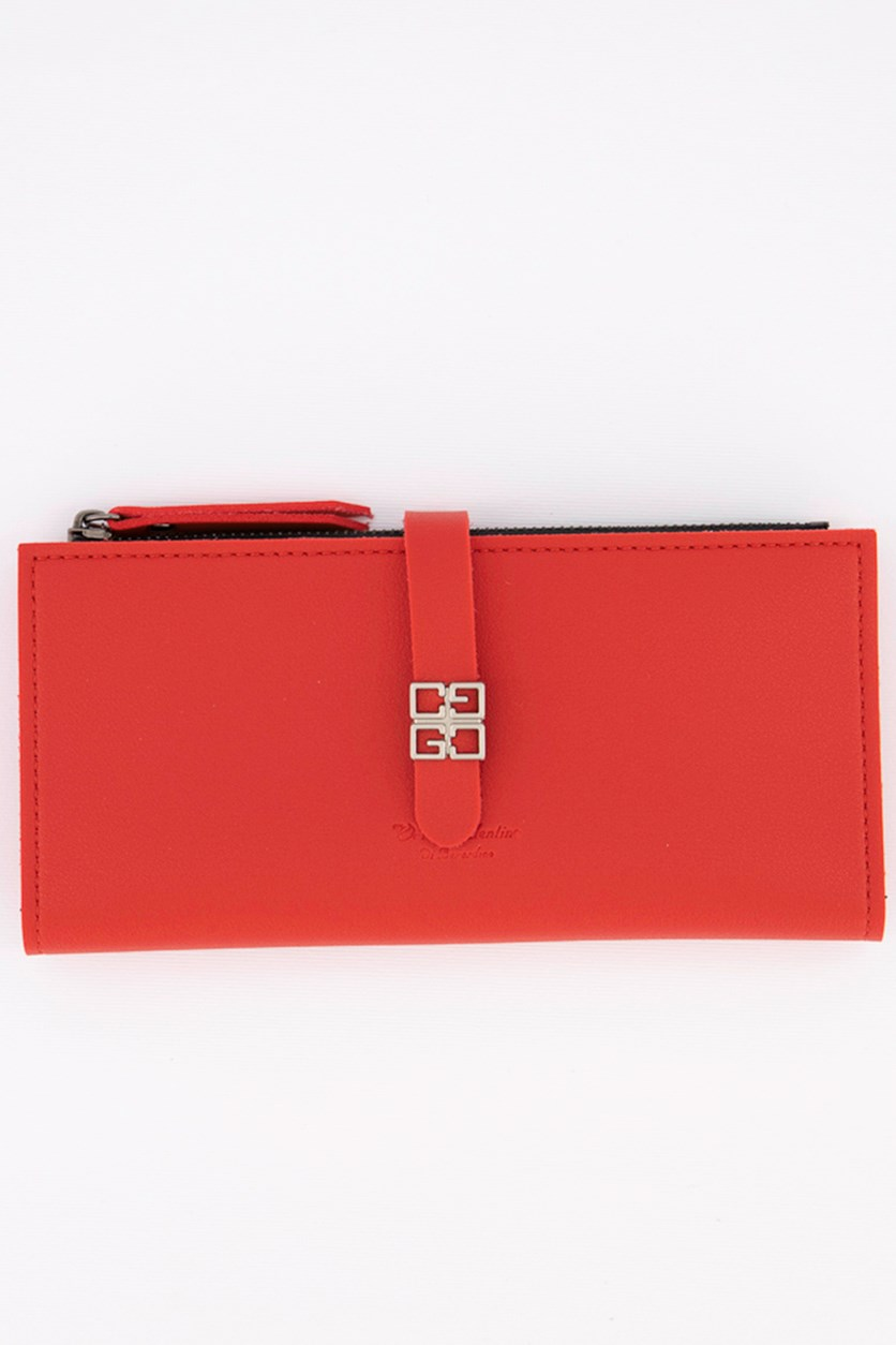 Women's Synthetic Wallet and Purses, Red