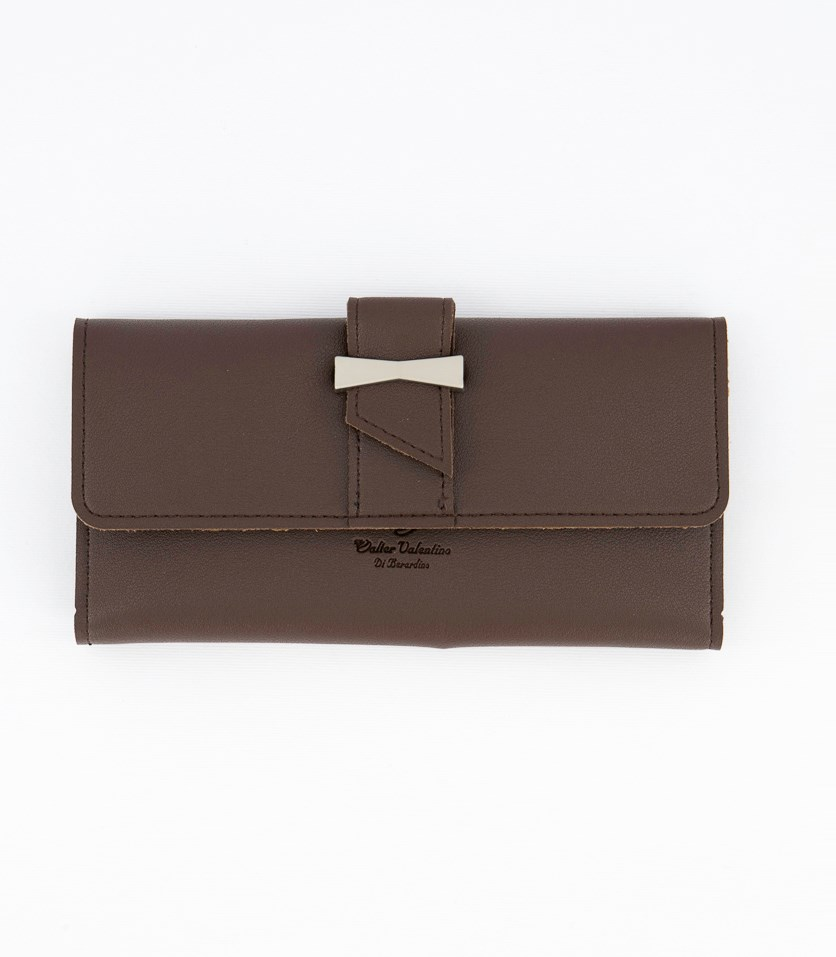 Women's Synthetic Leather Wallet, Brown