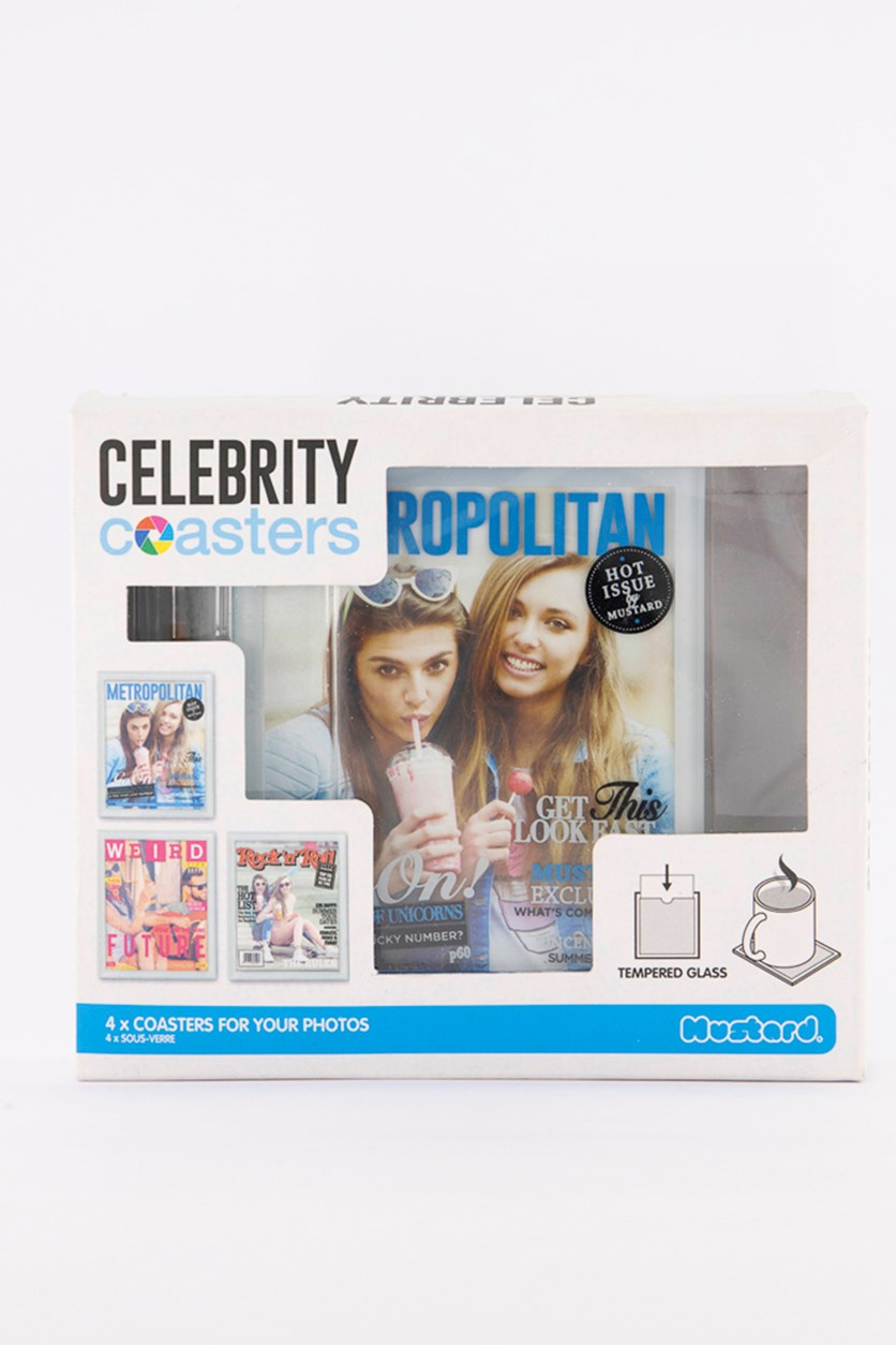 Desktop Celebrity Coasters, Clear