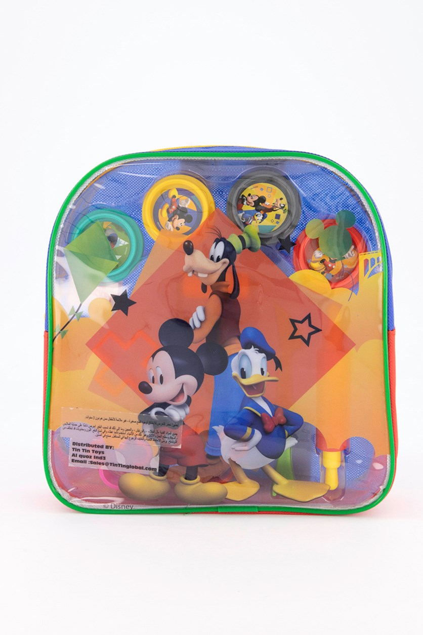 Mickey Dough Filled Backpack, Blue/Red