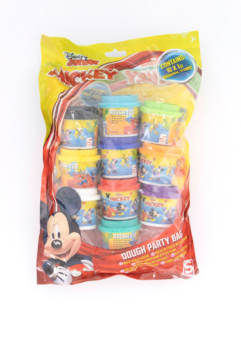 Mickey 10 Tubs Dough Party Bag, Yellow/Red Combo