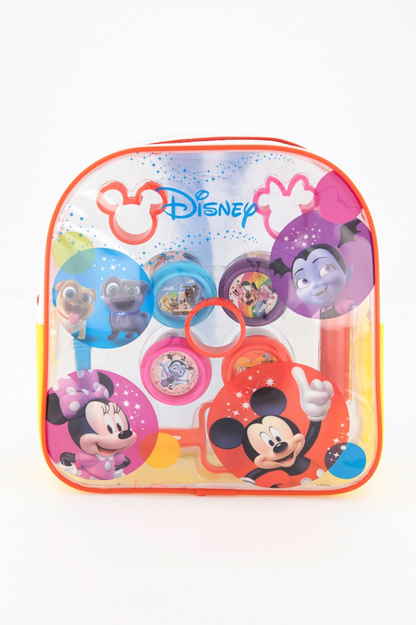Mickey Dough Filled Backpack, White/Yellow