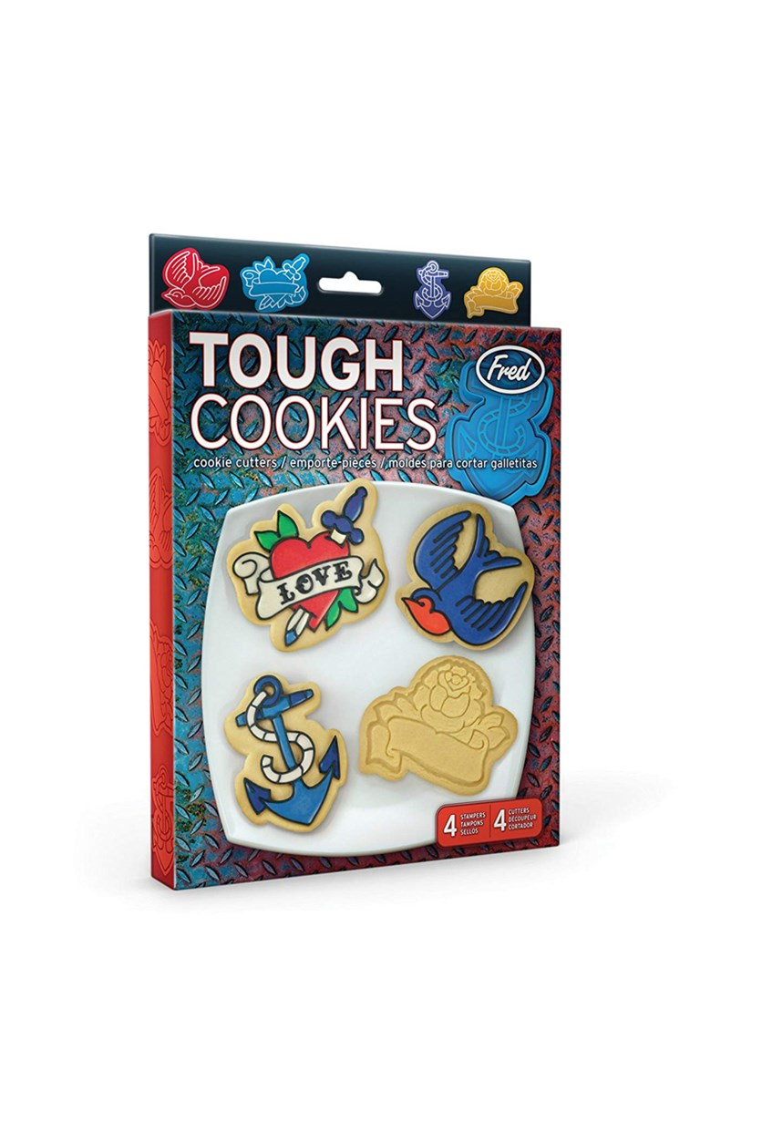 Tough Cookies Tattoo Cookie Cutter/Stampers, Set of 4