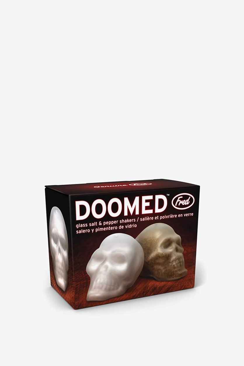 Doomed Salt and Pepper Shakers, White