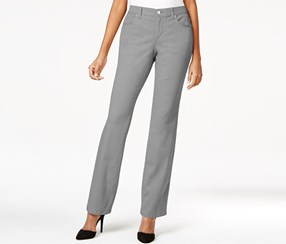 Jm Collection Curvy-Fit Straight-Leg Shy Jeans, Grey Wash