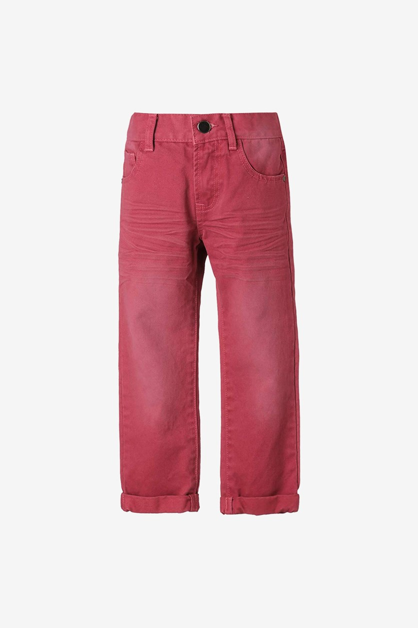 Boys Straight Jean, Burgundy