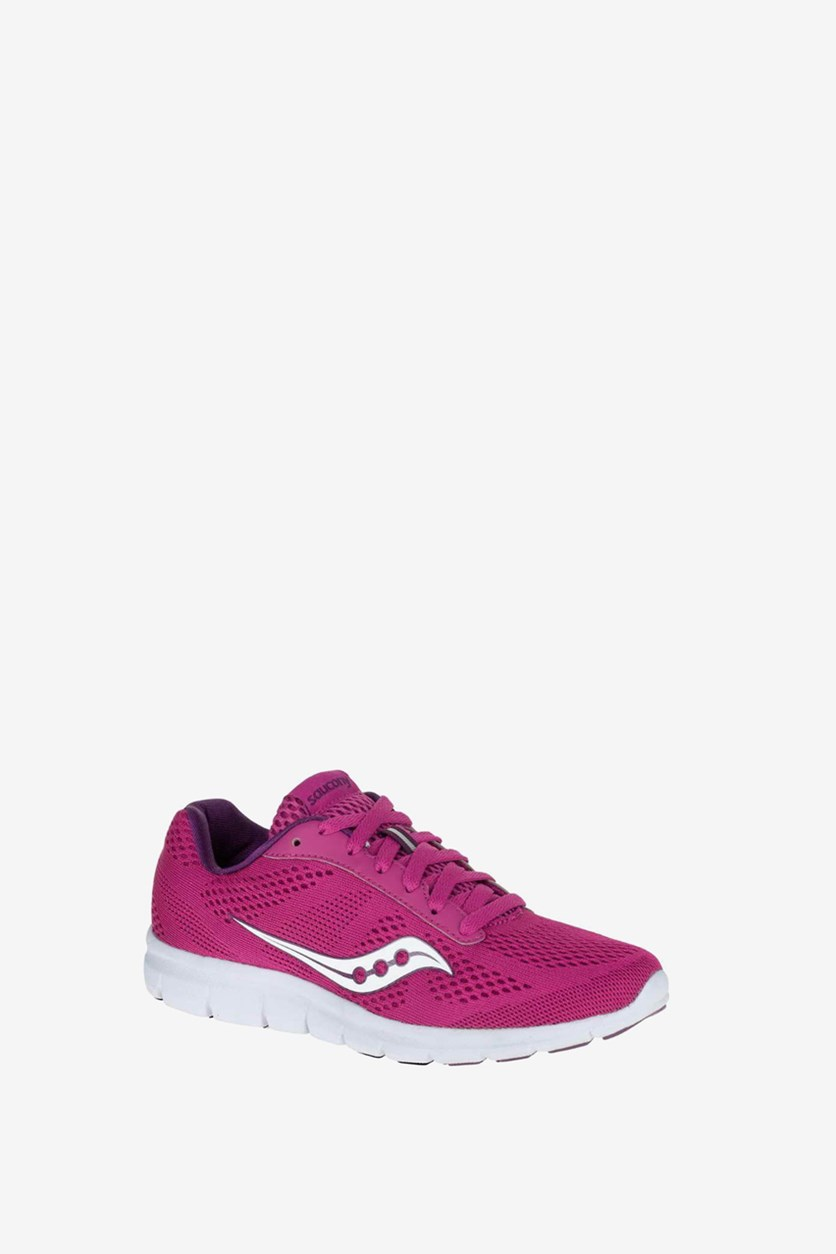 Women's Grid Ideal Running Shoes, Berry/White