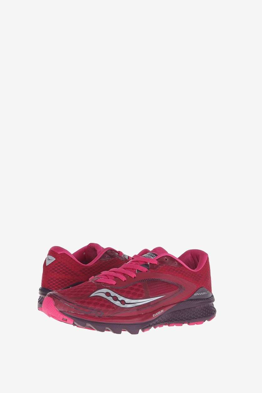 Women's Kinvara LR Running Shoes, Cherry/Purple