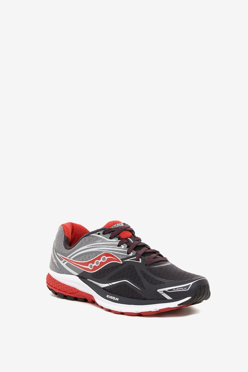 Men's Ride Running Shoes, Gray/Charcoal/Red