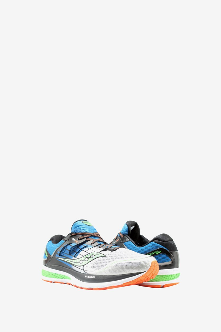 Men's Triumph ISO Running Shoes, Blue/Silver/Slime
