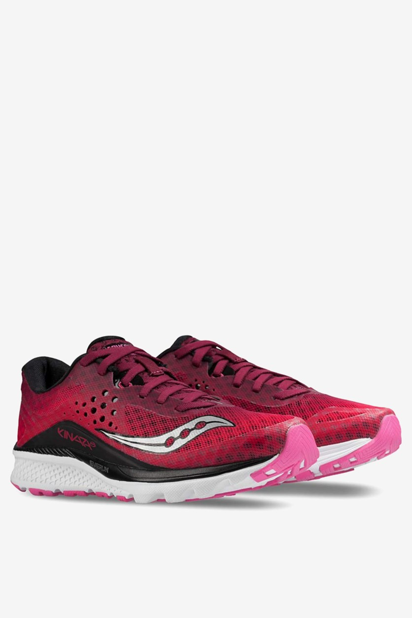 Women's Kinvara Running Shoes, Berry/Pink