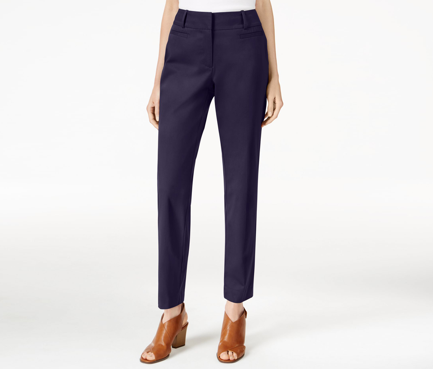 Style Co Petite Slim-Fit Cropped Pants, Industrial Blue