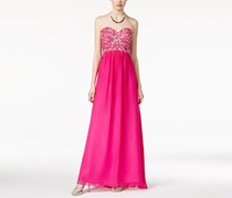 Jump Women's Jeweled Bow-Back Empire-Waist Gown, Pink