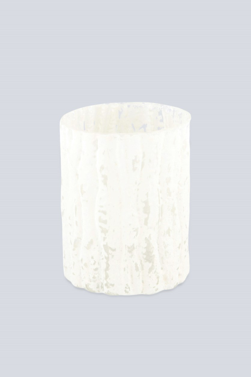 Tealight Holder Glass, White