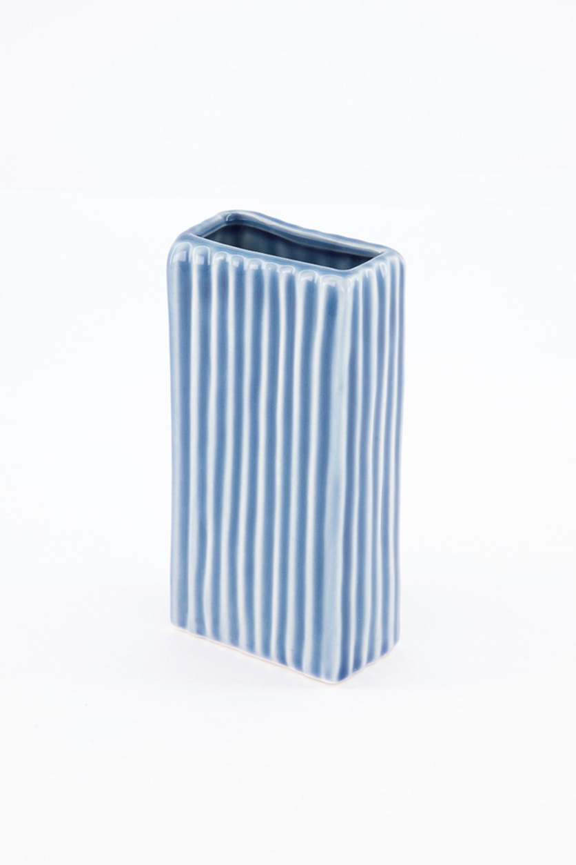Ceramic 3-Pcs Vase, Blue