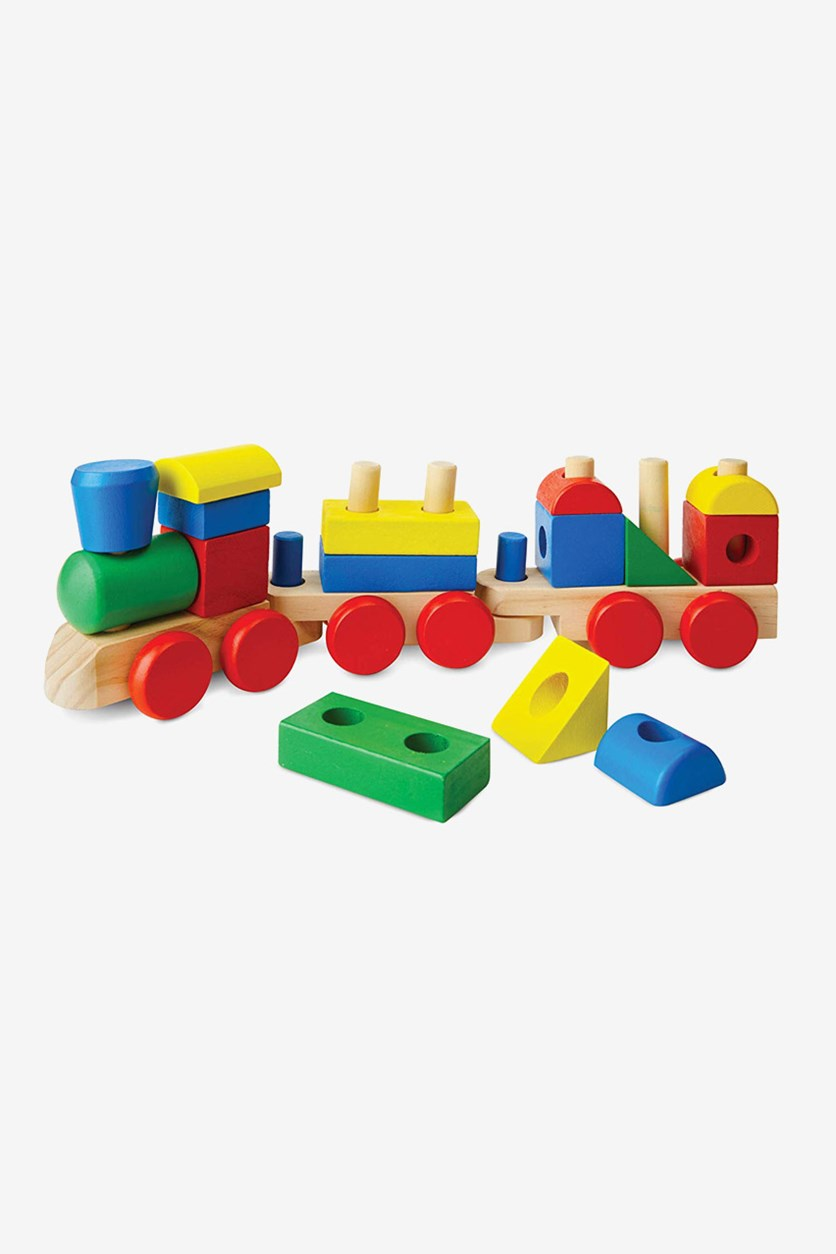 Kid's Stacking Train Classic Toy, Blue Combo