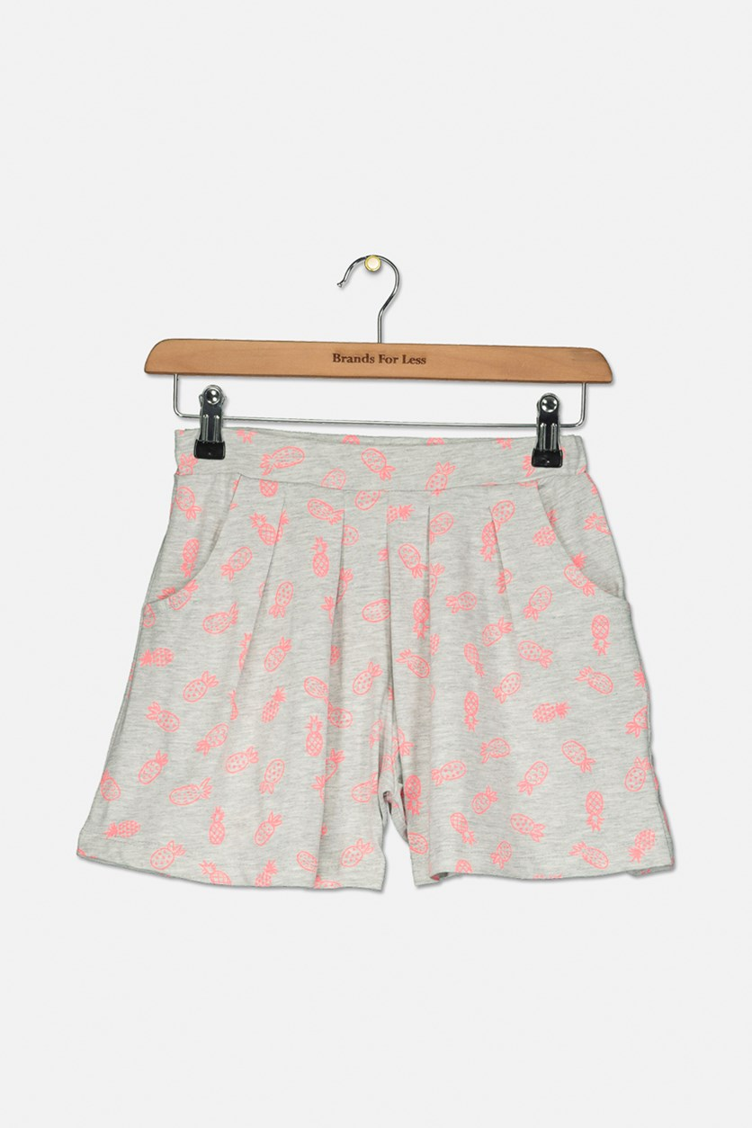 Big Girls Pull On Shorts, Grey/Pink