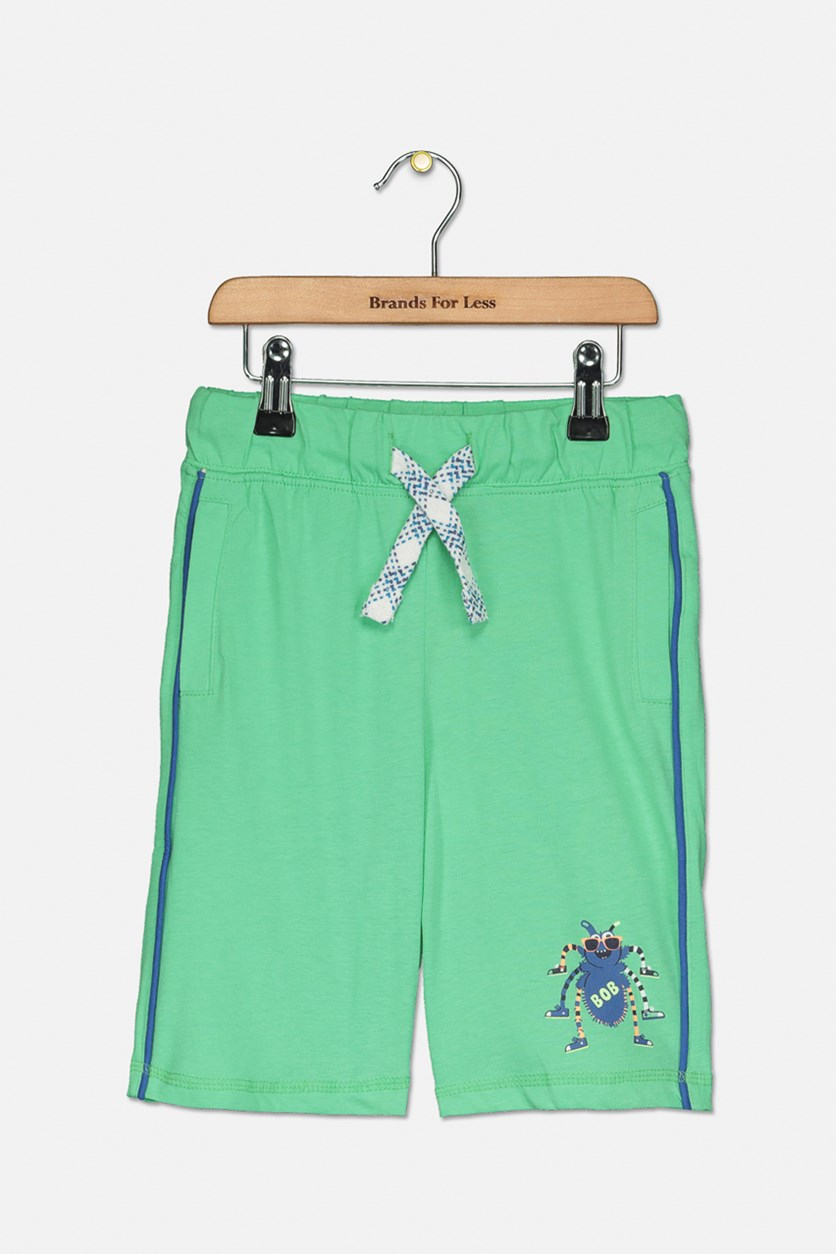 Toddler Boys Spider Bob Shorts, Green