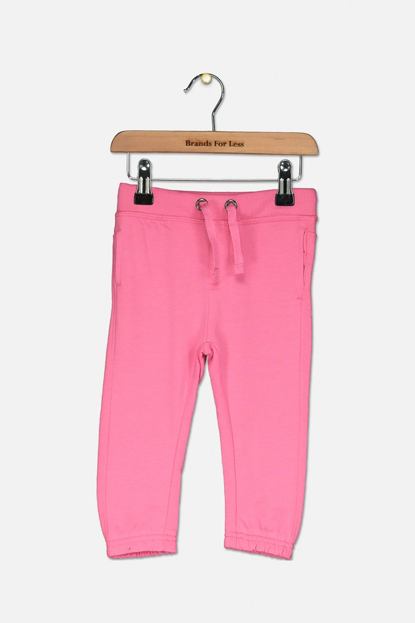 Toddler Drawstring Pants, Pink