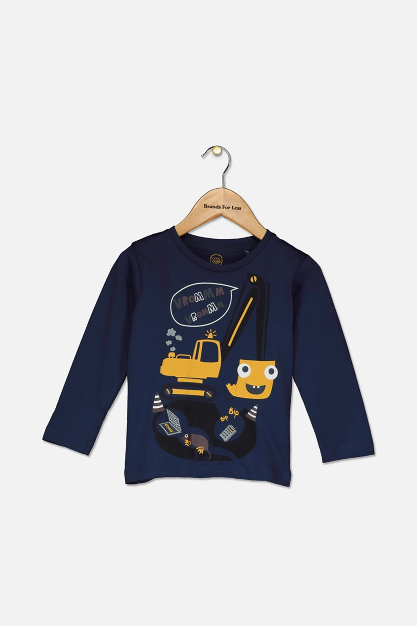Toddler Boy's Graphic Shirt, Navy