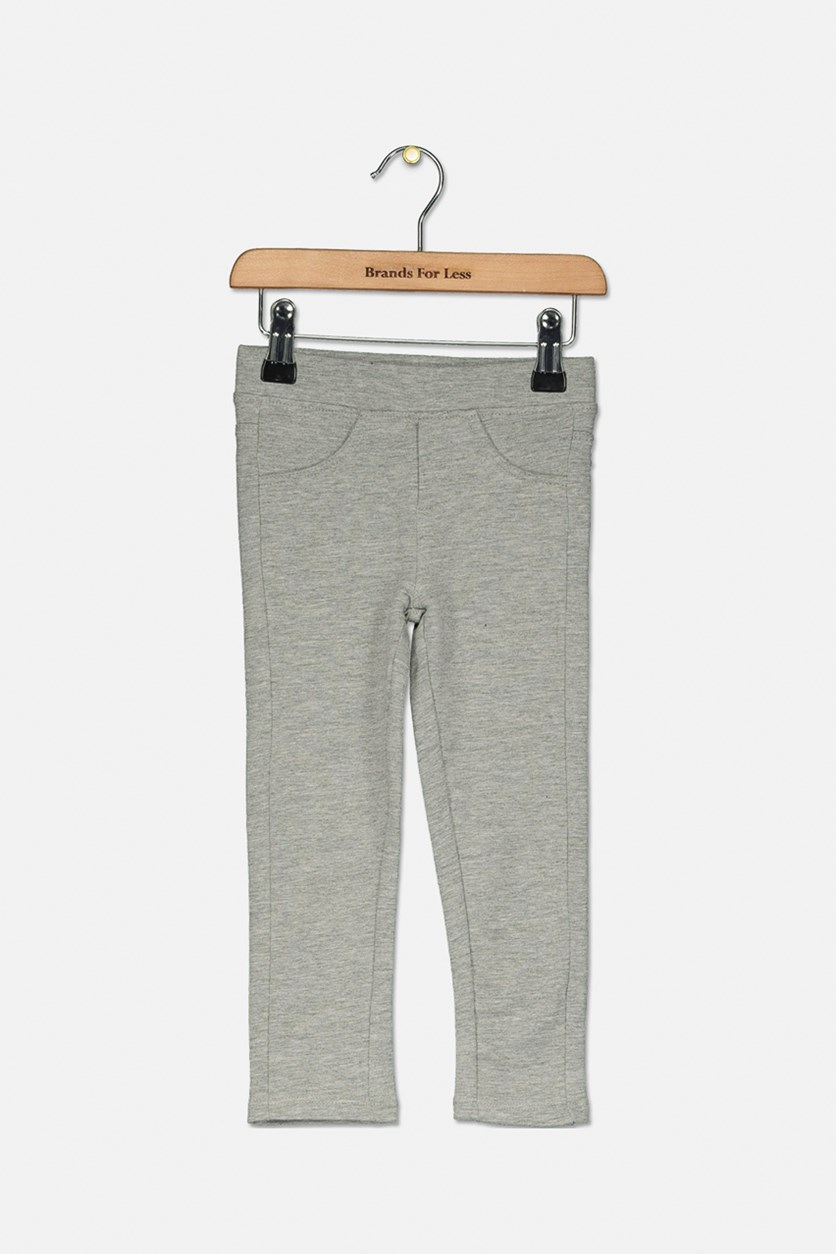 Kids Girls Pull on Leggings, Grey