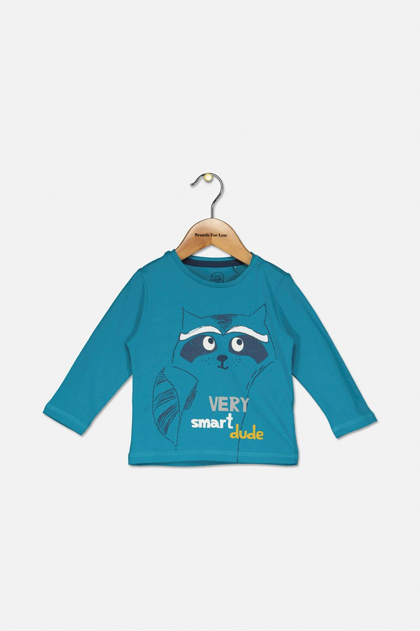 Toddler Boys Graphic Print Top, Blue