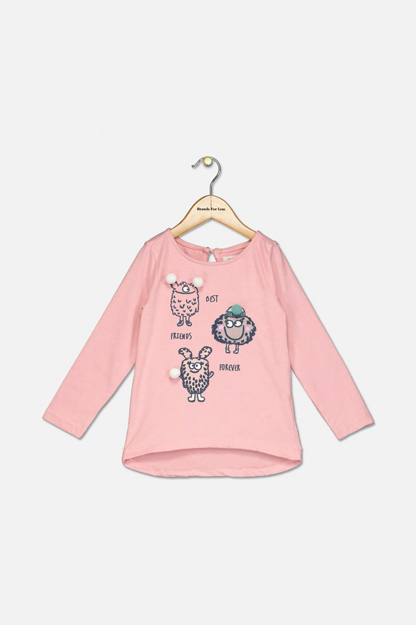 Kids Girl's Long Sleeve Top, Pink