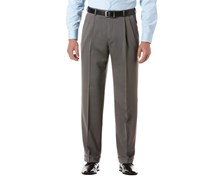 Perry Ellis Big & Tall Micro Melange Pleated Pants, Gray