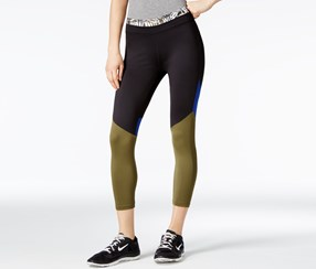 Energie Active Juniors Colorblocked Cropped Leggings, Olive
