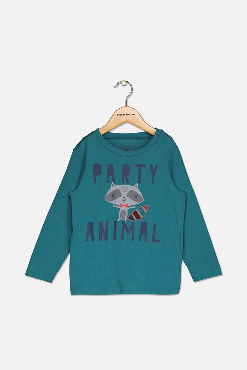 Toddler Boys Party Animal Graphic T-Shirt, Surf