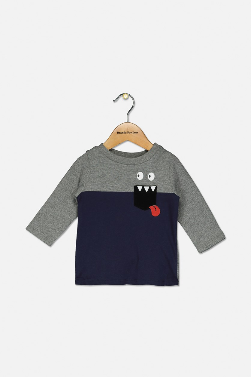 Baby Boy's Monster Pocket T-Shirt, Navy