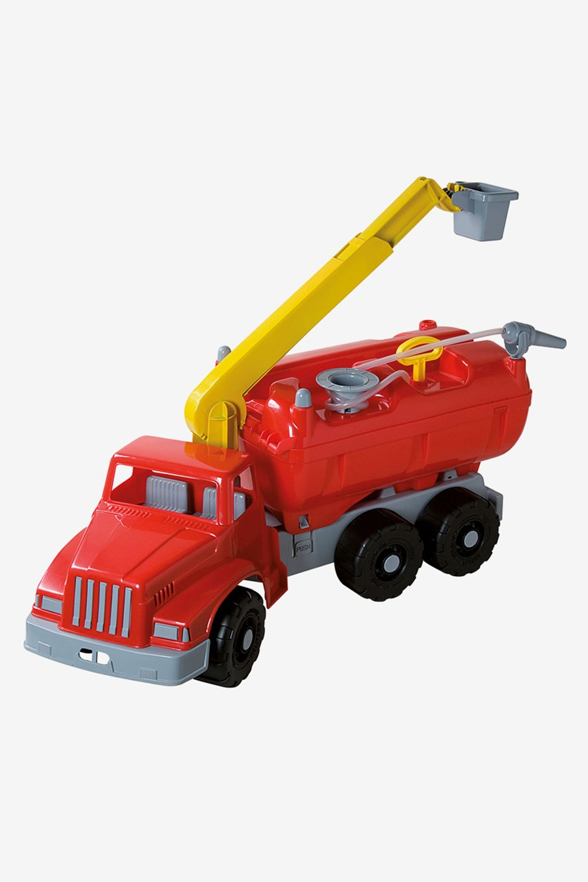 Water Pump Truck 72 cm Long, Red/Yellow
