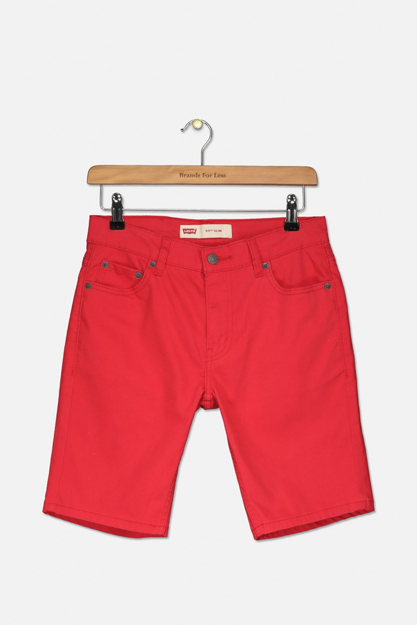 Big Boy's Suede Shorts, American Red