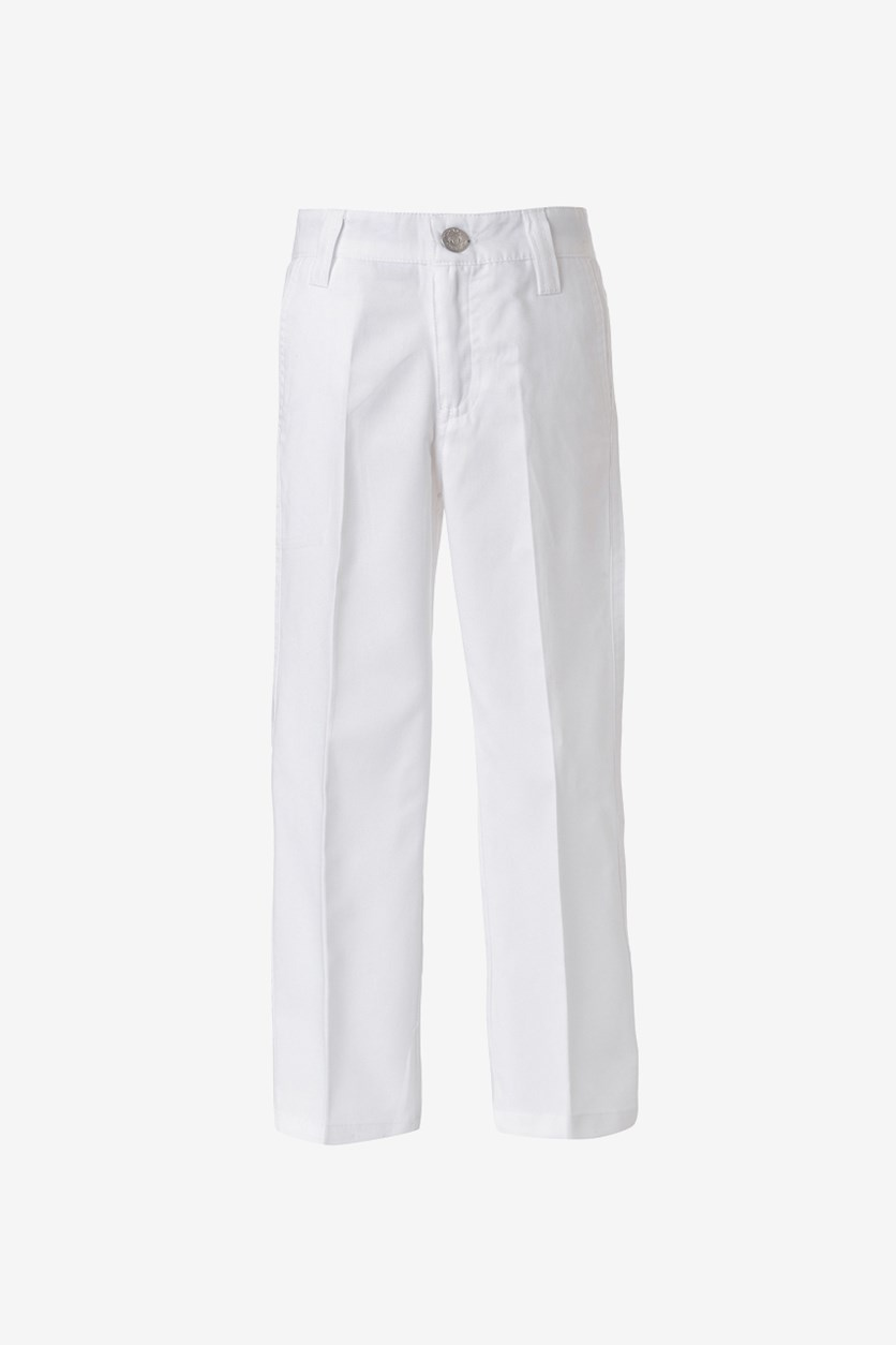 Boys Straight Trousers Pant, White