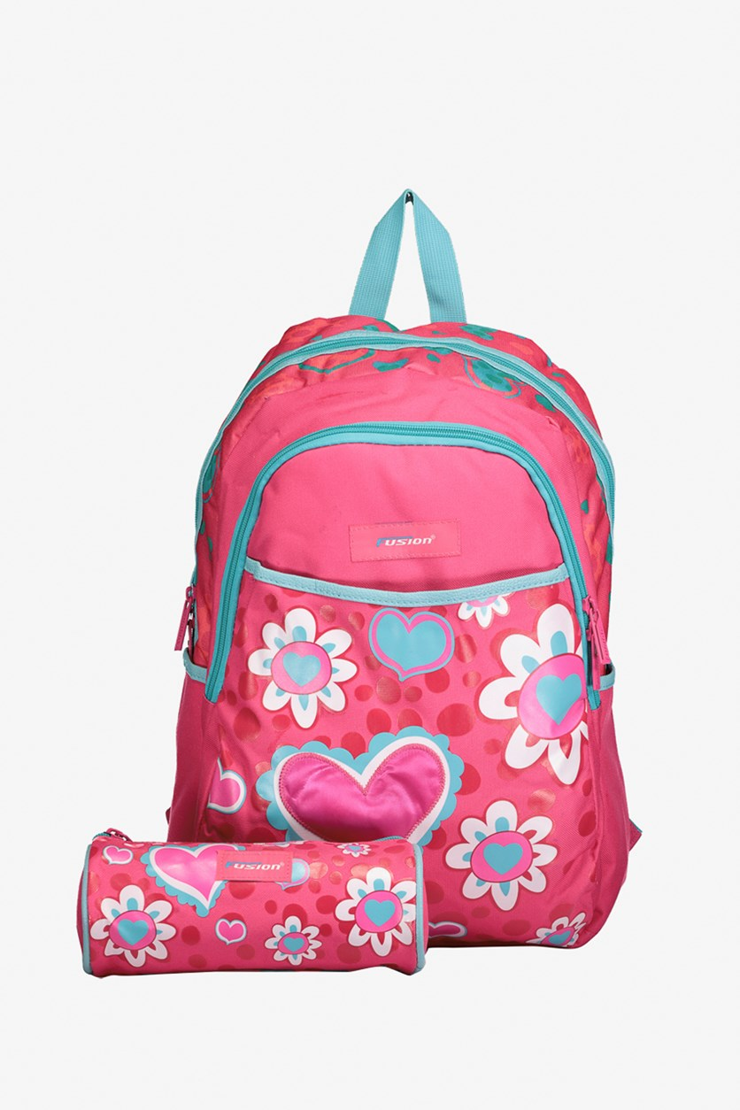 Fusion United Heart Backpack, Pink Combo