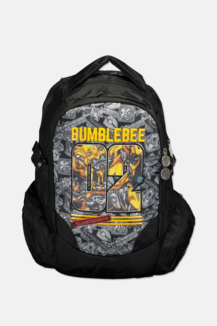 Boy's Transformers Bumble Bee Backpack, Black