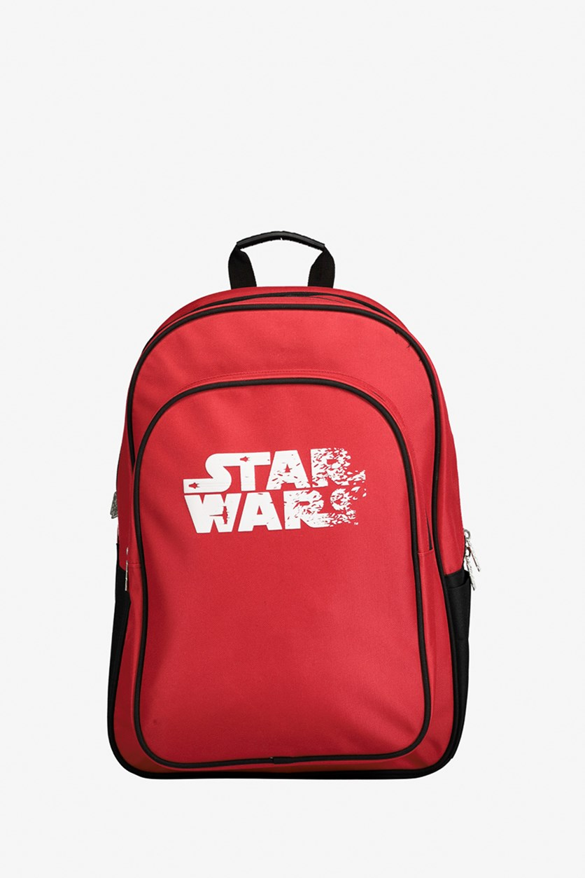 Starwars White Logo Backpack, Red/Black/White
