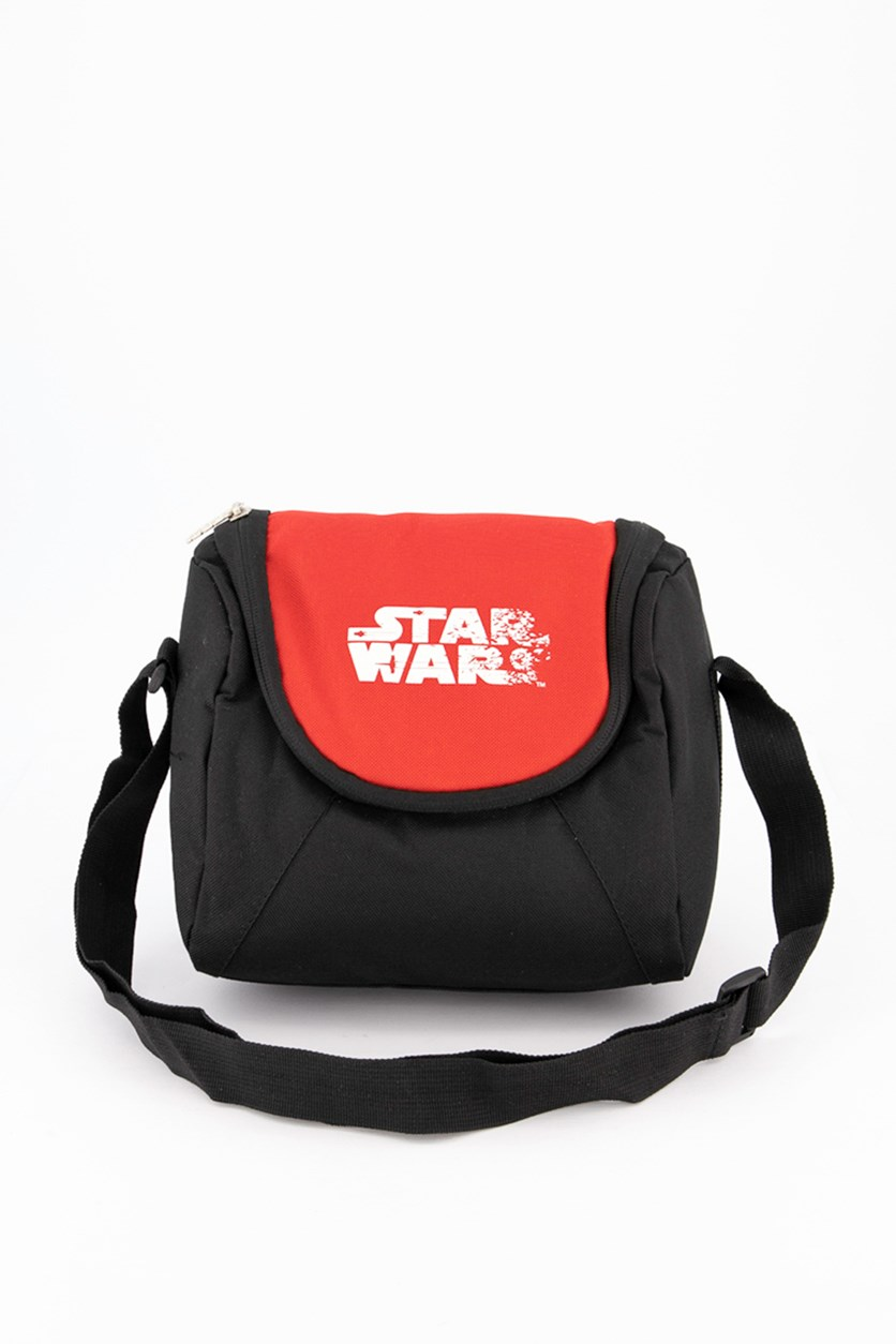 Starwars White Logo Lunch Bag, Black/Red/White