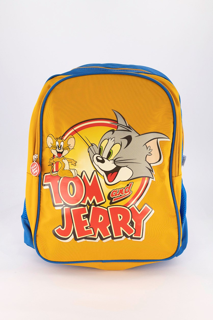 Tom & Jerry Backpack, Blue/Mustard Combo