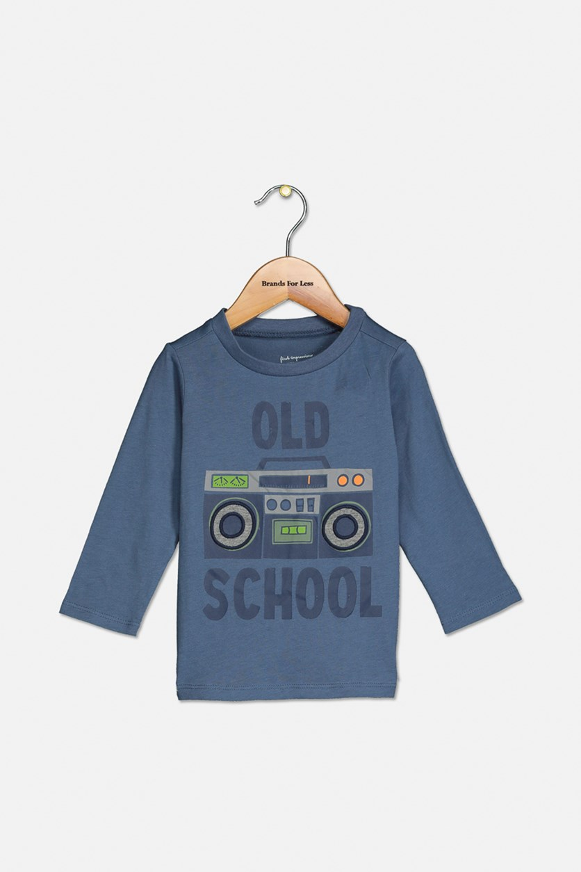 Toddler Boys Old School Graphic Cotton T-Shirt, Heaven