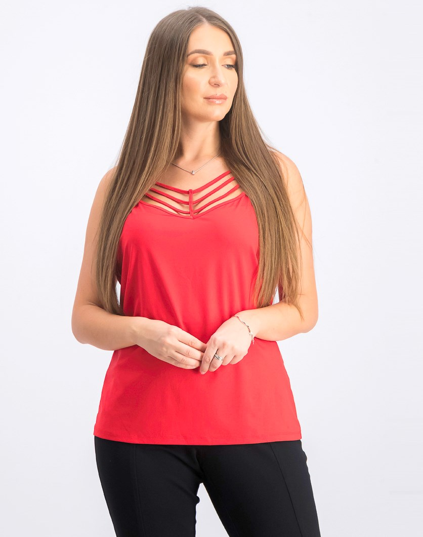 Strappy Camisole, Red