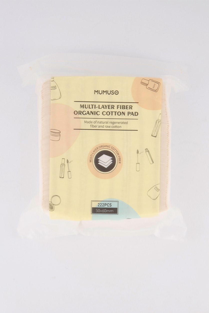 Multi Layer Fiber Organic Cotton Pads