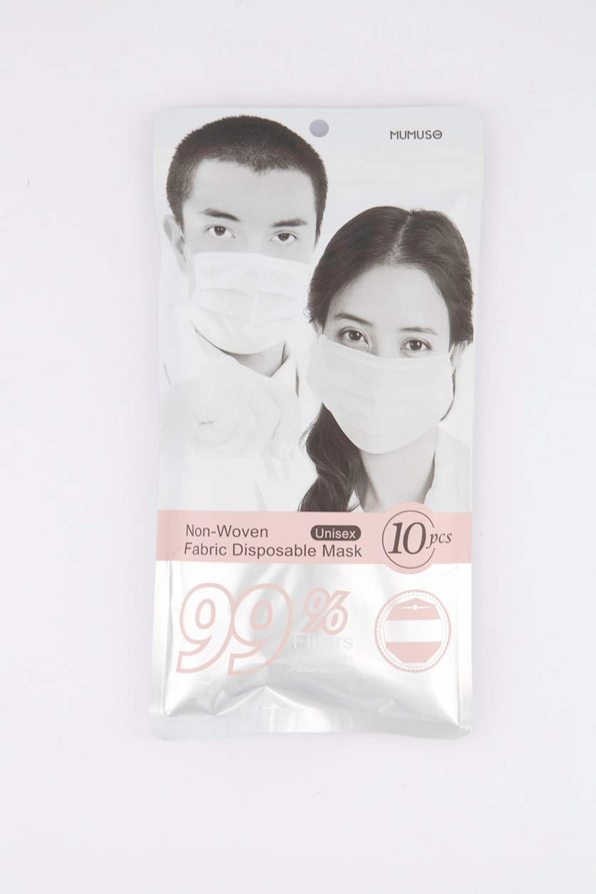 10 Pack Commonly Used Disposable Mask, Pink