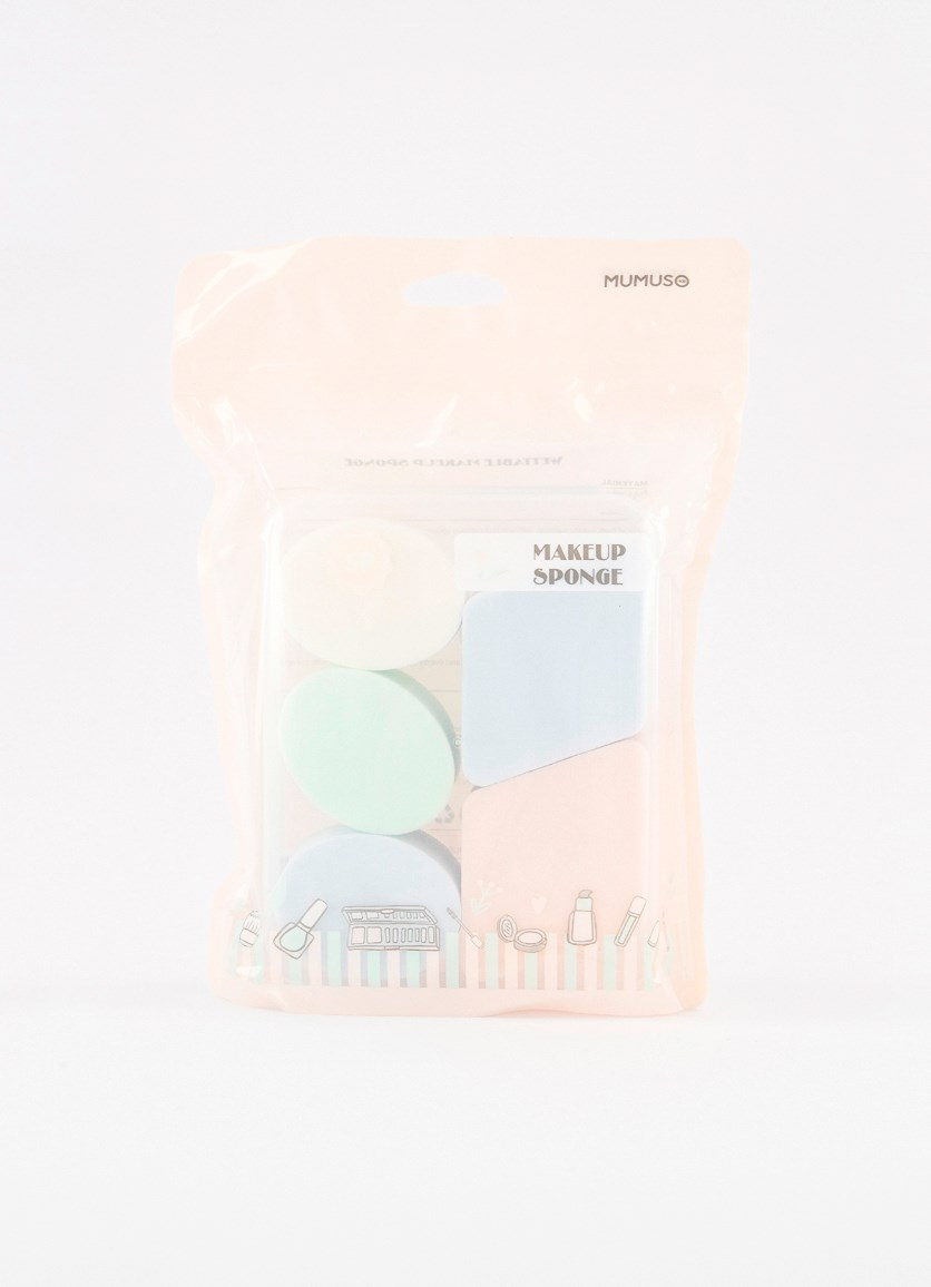 5-Pcs. Wettable Make-Up Sponge, Pink Combo