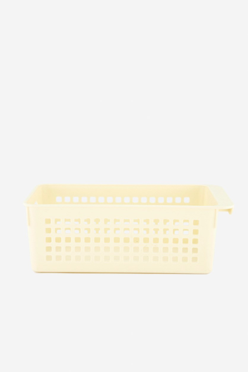 Smiling Face Storage Basket, Off White