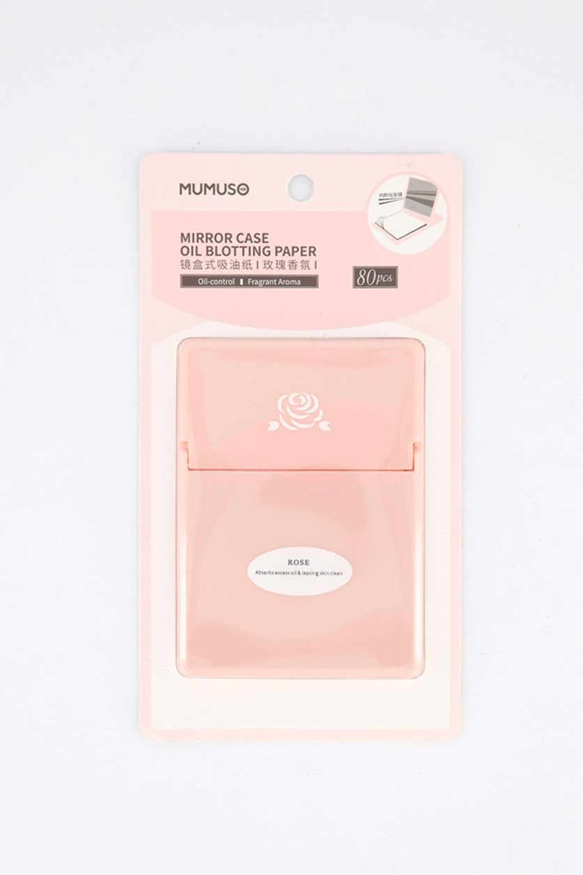 Mirror Case Oil Blotting Paper, Rose
