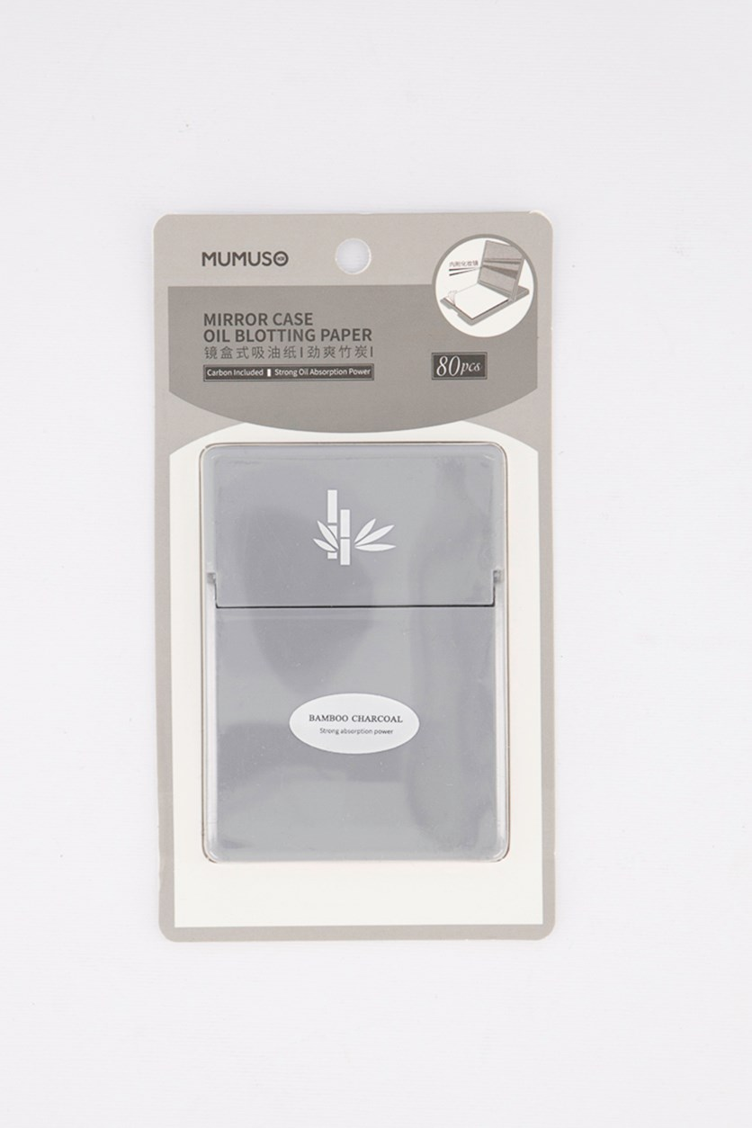 Mirror Case Oil Blotting Paper, Bamboo Charcoal