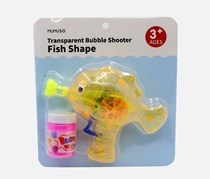 Transparent Bubble Shooter Fish Shape, Clear/Yellow