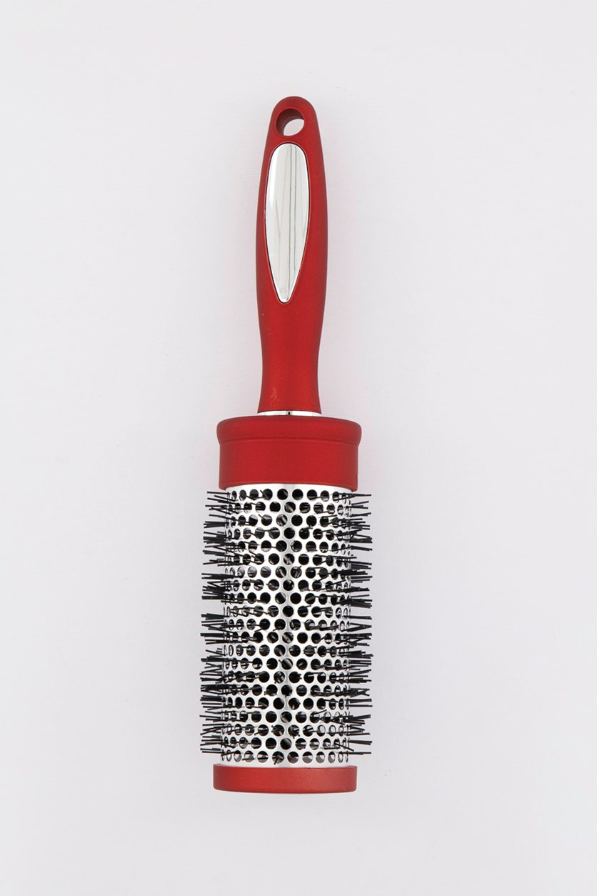 Round Barrel Hair Brush, Red